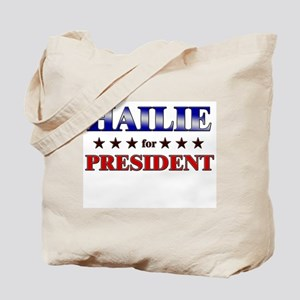HAILIE for president Tote Bag