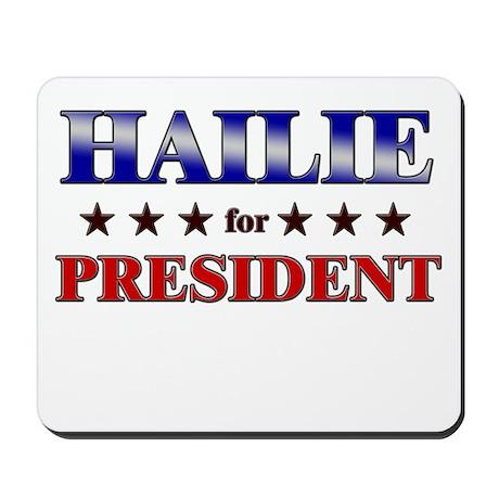 HAILIE for president Mousepad