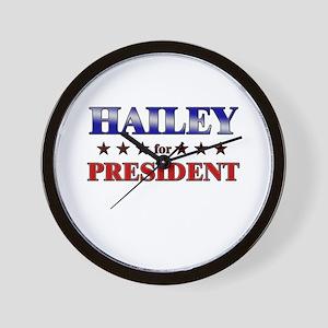 HAILEY for president Wall Clock