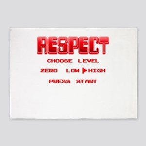 RESPECT Red 5'x7'Area Rug