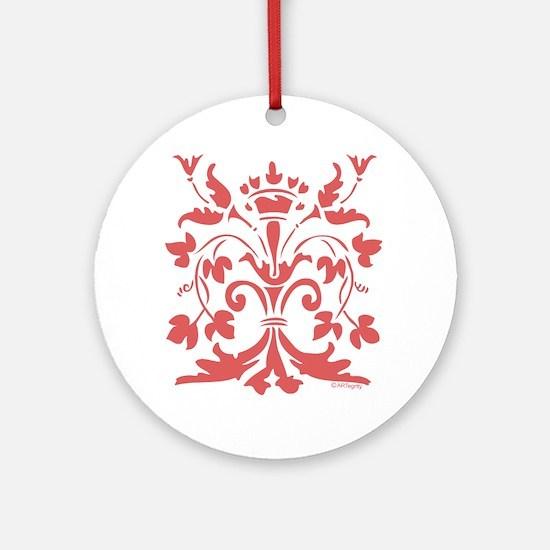 Fleur de lis Queen (red) Ornament (Round)