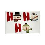Ho Ho Ho Rectangle Magnet (100 pack)