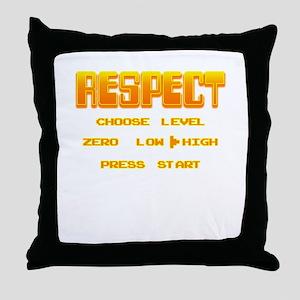 RESPECT Orange Throw Pillow