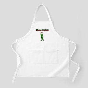 Buon Natale Italian Christmas Boot BBQ Apron
