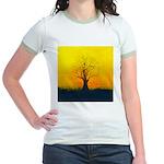72.naked tree..? Jr. Ringer T-Shirt