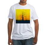 72.naked tree..? Fitted T-Shirt