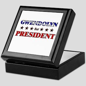 GWENDOLYN for president Keepsake Box