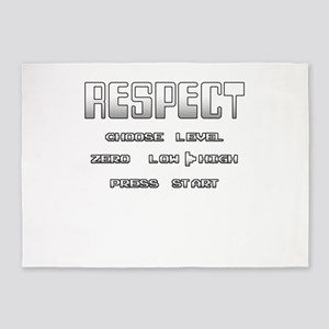 RESPECT Gradient White 5'x7'Area Rug