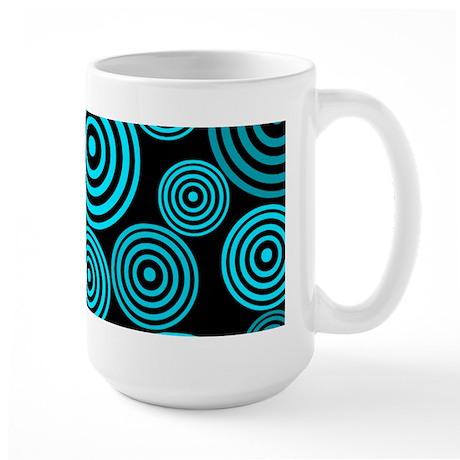 Aqua Circles Large Mug