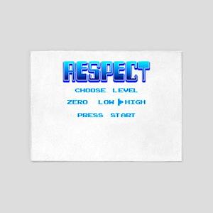 RESPECT Blue 5'x7'Area Rug
