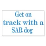 On Track with SAR Rectangle Sticker