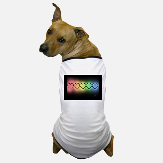 Rainbow Pixel Heart Dog T-Shirt