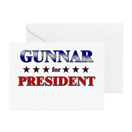 GUNNAR for president Greeting Cards (Pk of 20)