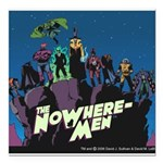 The NoWhere-Men Cliff Im Square Car Magnet 3