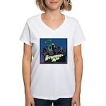The NoWhere-Men Cliff Image Women's V-Neck T-Shirt