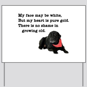 Old Black Lab Yard Sign
