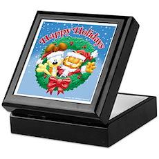 Garfield & Odie Happy Holidays Keepsake Box