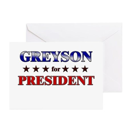 GREYSON for president Greeting Cards (Pk of 10)