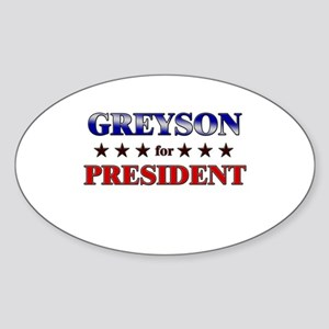 GREYSON for president Oval Sticker