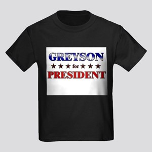 GREYSON for president Kids Dark T-Shirt