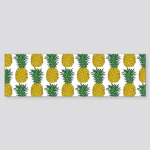 All Over Pineapple Pattern Bumper Sticker