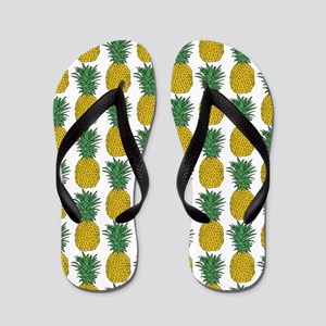 All Over Pineapple Pattern Flip Flops