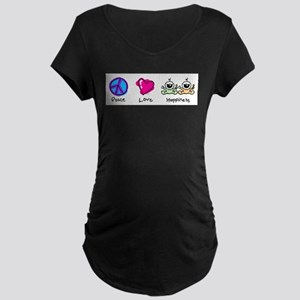 Peace Love and Twins Maternity T-Shirt