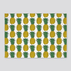 All Over Pineapple Pattern 5'x7'Area Rug