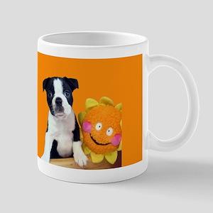 Sunny Boston Terrier Puppy - Mug