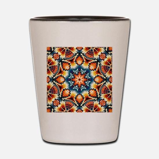 Colorful Concentric Motif Shot Glass