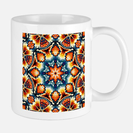 Colorful Concentric Motif Mugs