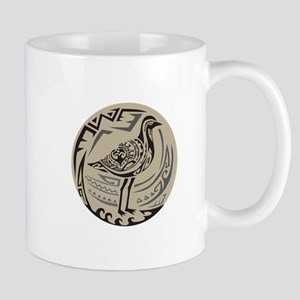 Golden Plover Standing Circle Tribal Art Mugs