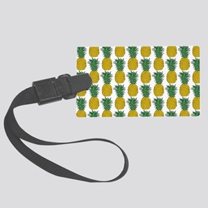 All Over Pineapple Pattern Large Luggage Tag