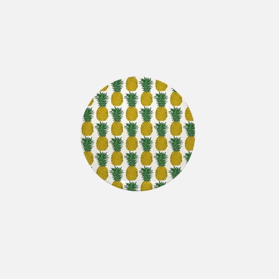 All Over Pineapple Pattern Mini Button