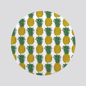 All Over Pineapple Pattern Button