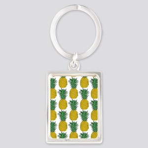 All Over Pineapple Pattern Keychains