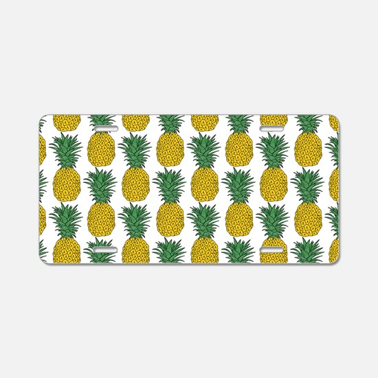 All Over Pineapple Pattern Aluminum License Plate