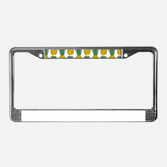 All Over Pineapple Pattern License Plate Frame