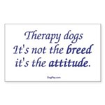 Best Therapy Breed Rectangle Sticker