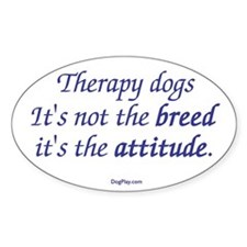 Best Therapy Breed Oval Sticker