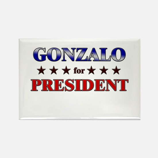 GONZALO for president Rectangle Magnet
