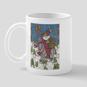 Santa Lights the Way Mug