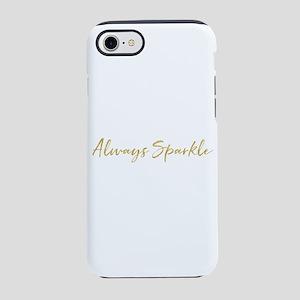 Gold Glitz Always Sparkle Iphone 8/7 Tough Case
