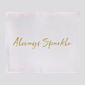 Gold Glitz Always Sparkle Throw Blanket