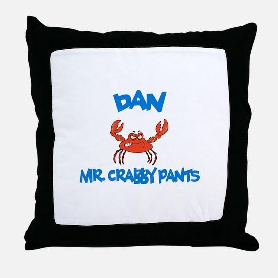 Dan - Mr. Crabby Pants Throw Pillow