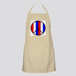 Red White Blue Peace Sign BBQ Apron