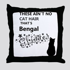 bengal glitter Throw Pillow