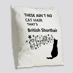 british shorthair glitter Burlap Throw Pillow