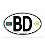 Bangladesh Euro Oval Postcards (Package of 8)