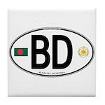 Bangladesh Euro Oval Tile Coaster
